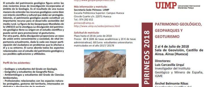 Curso de verano sobre Patrimonio Geológico, Geoparques y Geoturismo